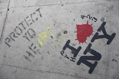 I love New York protect yo heart street art (neeravbhatt) Tags: new york streetart love heart yo protect i