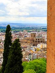 Granada Cathedral viewed from the Alhambra (peripathetic) Tags: beauty canon spain worldheritagesite espana alhambra granada 5d palaces 2016 nasrid nazaries 5dmkiii 5dmk3 canoneos5dmk3