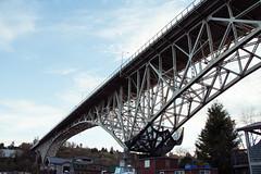 Fremont Bridge (aaronmefferd) Tags: seattle sunset canon washington pacific northwest fremont brigde t3i 600d