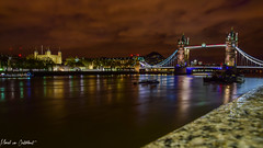 London night 9 (M van Oosterhout) Tags: city uk nightphotography bridge england london tower thames skyline night clouds evening town long exposure skies cityscape britain great