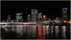 Brisbane@night (:: Blende 22 ::) Tags: bridge water night reflections river lights shadows brisbane brisbaneriver sigma1770mm canoneos50d
