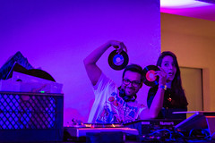 DJ Marlon Fuentes at the Flux Screening Series at the Hammer, February 3, 2016 (helloflux) Tags: california film hammer museum losangeles unitedstates flux short westwood screening musicvideo billywildertheater screeningseries