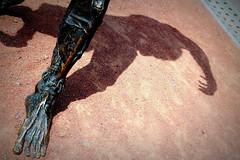 encounter with a monster (overthemoon) Tags: shadow monster statue bronze foot schweiz switzerland scary suisse geneva leg ground frankenstein svizzera genve frightening plainpalais romandie maryshelley thursdaywalk jrmemassard floriansaini konstantinsgouridis utata:project=scifi utata:project=tw526 klatcollective
