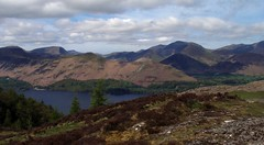 View from Walla Crag (379m) (Mrs Butterbur) Tags: uk england panorama mountain lake nationalpark view lakedistrict cumbria gb derwentwater catbells qmd