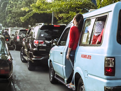Streets of Jakarta (City Life) (hastuwi) Tags: girl jakarta mikrolet macet angkot cewek angkutankota
