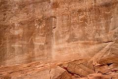Human Figures on a Rock Panel (jpmckenna - Denali Bound) Tags: utah petroglyph dinosaurnationalmonument rockart getoutside utahhiking fremontculture vernalclassicstyle