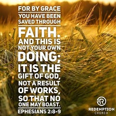 For by grace you have been saved through faith. And this is not your own doing; it is the gift of God, not a result of works, so that no one may boast. Ephesians 2:8-9 http://ift.tt/1FC0mOe #redemptionokc #edmond #grace (rcokc) Tags: saved by that one for this is god you no faith may it grace been doing have your gift works and through result own edmond boast 289 ephesians redemptionokc redemptionokccomsermons