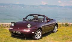 For sale ! (NaPCo74) Tags: sun lake canon soleil lac sunny 18 mazda leman lman miata mx5 roadster eunos mk1