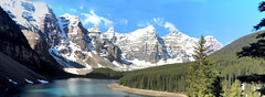Moraine Lake, Banff National Park, Alberta, Canada - ICE(5)303-313 (photos by Bob V) Tags: panorama mountains rockies alberta banff rockymountains mountainlake albertacanada banffnationalpark morainelake canadianrockies banffpark mountainpanorama
