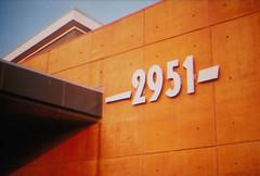 -2951- (miltonrosas) Tags: street orange building modern dallas texas superia library numbers 400 fujifilm xtra