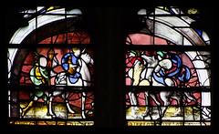 St Paul's Conversion on the road to Damascus (English glass, 16th Century) (Simon_K) Tags: cambridge college university chapel stainedglass tudor kings cambridgeshire eastanglia 16thcentury cambs