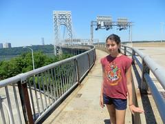 Eden on the GWB (edenpictures) Tags: newyorkcity manhattan daughter hudsonriver eden fathersday georgewashingtonbridge washingtonheights