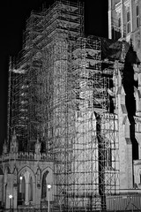 Scaffolding (tim.perdue) Tags: scaffolding national cathedral washington dc spring break 2016 black white bw monochrome contrast light shadow night dark long exposure architecture