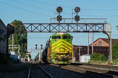 NS 169 Canton, OH (Nolan Majcher) Tags: bridge ohio heritage illinois norfolk terminal southern oh locomotive 169 signal canton prr 1072