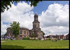 St Chad's Church (zweiblumen) Tags: park uk england shropshire shrewsbury thequarry polariser canoneos50d stchadschurch zweiblumen photoshopcs4