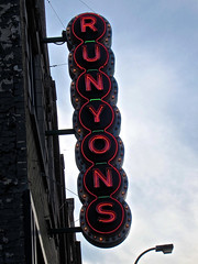 Runyon's, Minneapolis, MN (Robby Virus) Tags: food minnesota sign bar restaurant pub neon minneapolis liquor drinks alcohol tavern signage booze runyons