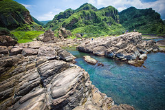 GTJ-2016-0630-8 (goteamjosh) Tags: ocean mountain landscape  taiwan erosion pacificocean    nanya northcoast rockformation northeastcoast   nanyapeculiarrocks newtaipei nanyarockformation   newtaipeicity