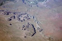 Aerial view of badlands in Petrified Forest National Park, Arizona (cocoi_m) Tags: arizona nature aerial geology petrifiedforestnationalpark geomorphology aerialphotograph badland chinleformation bidahochiformation