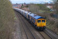 66_770_Wellington_27_03_15 (chrisbe71) Tags: stone telford wellington class66 gbrf 66770 6z32