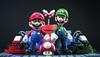 We are Brothers. (Andy @ Pang Ket Vui ( shootx2 )) Tags: mushroom nation super mario figure gokart bandai shf tamashii