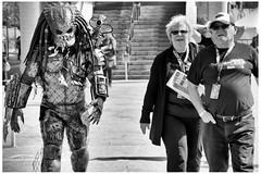 Comic Ezpo 2015 - what? (Wanderfull1) Tags: calgary downtown comic expo entertainment predator oldercouple 2015