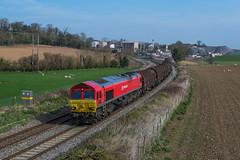 66_185_Burgs Lane_08_04_15 (chrisbe71) Tags: steel shrewsbury dbs class66 66185 6v75