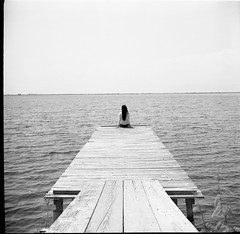 Her view,my view (Salt.as) Tags: camera trip sea portrait sky bw sun white lake black 120 6x6 film scale girl analog hair square lens outdoors person photography grey photo wooden hands alone view scanner horizon sunny away down iso greece deck figure epson medium format 28 analogue v600 90mm kiev vega developed far 6c ilford fp4 excursion exciting 114 125 2015 ilfosol 12b ilfosol3 messolongion