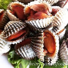 เมนู หอยแคลงลวก ของร้านเฮียชัยซีฟู๊ดเดลิเวอรี่