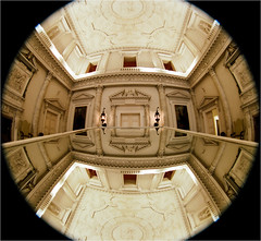 (paul messerschmidt (europe)) Tags: uk greatbritain summer england house distortion reflection building home square mirror hall distorted interior main barrel wide entrance grand wideangle august surrey ceiling lookingup fisheye round inside mansion marble fullframe curved statelyhome nationaltrust 180 circular ewa 180degrees uwa palladian clandon 2011 westclandon twostorey 82011 clandonparkhouse film20113113