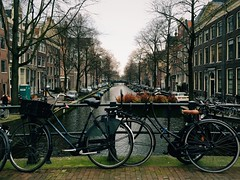 Amsterdam experience (MarcosNR.) Tags: old sunset lake holland vintage landscape gold europe place horizon retro precious area beatiful iphone picoftheday colourfull