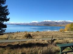 Lac Tekapo (vue de notre hôtel)