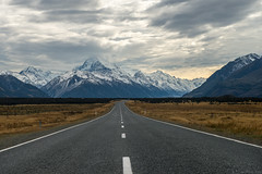 Towards the Tallest Mountain (ngkokkeong) Tags: road travel newzealand vacation mountain way nikon awesome cook mount southisland middle d800 aoraki