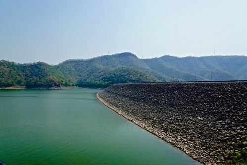Srinakarin dam and lake in Kanchanaburi province, Thailand