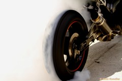 quemando rueda