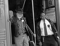 Downers Grove Amtrak cowboy (psbell2) Tags: hat keys cowboy candid honest amtrak conductor integrity cordial hardworking sonyglens