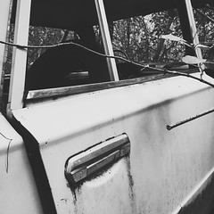 D e c a y i n g W r e c k (db | photographer) Tags: blackandwhite france monochrome car square rust europe noiretblanc decay voiture nb squareformat wreck carcass bnw rouille languedocroussillon herault carcasse decrepitude epave iphoneography iphoneonly instagramapp uploaded:by=instagram vscocam teyron