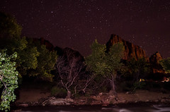 Virgin River at Night (wrgenec) Tags: park travel camping sky night stars outdoors evening utah lowlight desert hiking national zion