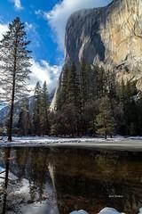El Capitan (jlm0506@att.net) Tags: winter snow reflections nationalpark yosemite elcapitan
