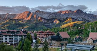 Golden Hour Over Mountain Village