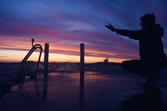 (Adrian Jahren) Tags: sunset sea colors clouds waves sony bridges sunsets powers alpha sonya brigde a77