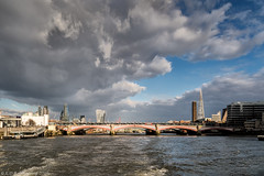 Black Friars Bridge (K_D_B 2 Million views. Thanks) Tags: bridge sky cloud london water thames canon river blackfriarsbridge kdb 7dmkii sigma1770f28dcosmacro