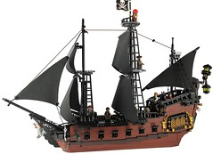 The Queen Annetta's Revenge (Jacob Nion) Tags: classic sailing ship lego pirates vessel bow sail caribbean lantern stern bobs pirateship galleon moc qar