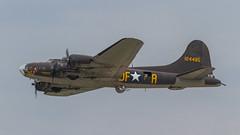 USAAF Boeing B-17F Flying Fortress 41-24485/N3703G 'DF-A' (Hugh Dodson) Tags: saturday ypsilanti boeing flyingfortress dfa willowrun memphisbelle usaaf b17f n3703g 4124485 thunderovermichigan2015
