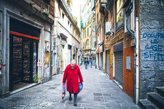 Woman in red (-Makar79-) Tags: 6d canonef24mmf14liiusm streetphotography people reddot