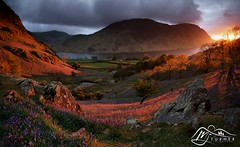 Mellbreak from Rannerdale (►►M J Turner Photography ◄◄) Tags: sunset england lakedistrict cumbria crummockwater mellbreak rannerdale