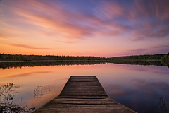 Captivation (bprice0715) Tags: longexposure blue sunset sky orange lake nature beautiful beauty clouds canon landscape outdoors spring dock colorful vibrant magenta naturephotography landscapephotography beautyinnature canoneos5dmarkiii canon5dmarkiii