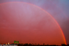 Morning Rainbow (Dan's Storm Photos & Photography) Tags: sky nature rain weather clouds sunrise skyscape landscape landscapes rainbow rainbows sunrises skyscapes doublerainbow rainshowers doublerainbows