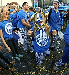 Donar Landskampioen 2015 -2016,Groningen stad ,the Netherlands,Europe (Aheroy(2Busy)) Tags: donar landskampioen basketbal grotemarkt blue groningen groningenstad fans fan blauwwit champion