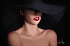 Black hat ((c) SoloStep Studio) Tags: red portrait girl face hat fashion dark studio model faces fashionphotography makeup portraitfaces glamwar solostepstudio solostep