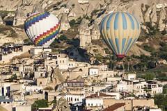 pass low (eb78) Tags: turkey landscape middleeast hotairballoon cappadocia anatolia goreme
